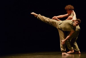 BalletBoyz the Talent 2013 - Jordan Olpherts and Andrea Carrucciu in Russell Maliphant's 'Fallen' - Photo by Panos