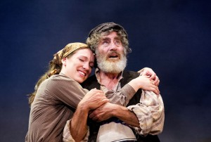 FOTR - Emily O'Keefe (Tzeitel), Paul Michael Glaser (Tevye) - Credit Tristram Kenton - theatre bath