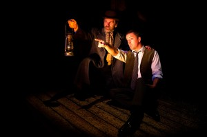The Woman in Black - Stuart Fox as Arthur Kipps and Gwynfor Jones as The Actor - Photo credit Craig Sugden- theatre bath
