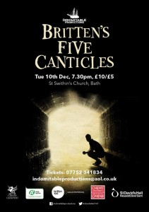 brittens five canticles- indomitable productions- theatre bath