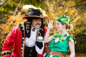 Cliff Parisi (Captain Hook) and Jessica Punch (Peter Pan) -Peter Pan at TRB - Photo Credit Freia Turland - (ref2)- theatre bath