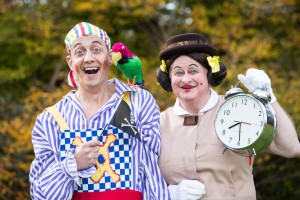 Jon Monie (Smee) and Chris Harris (Governess Gertie) - Peter Pan at TRB - Photo Credit Freia Turland - (ref2)- theatre bath