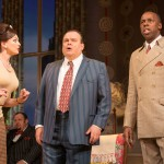 OneManTwoGuvnors - Emma Barton (Dolly) Shaun Williamson (Charlie), Derek Elroy (Lloyd Boateng) - Photo credit Johan Persson (1)