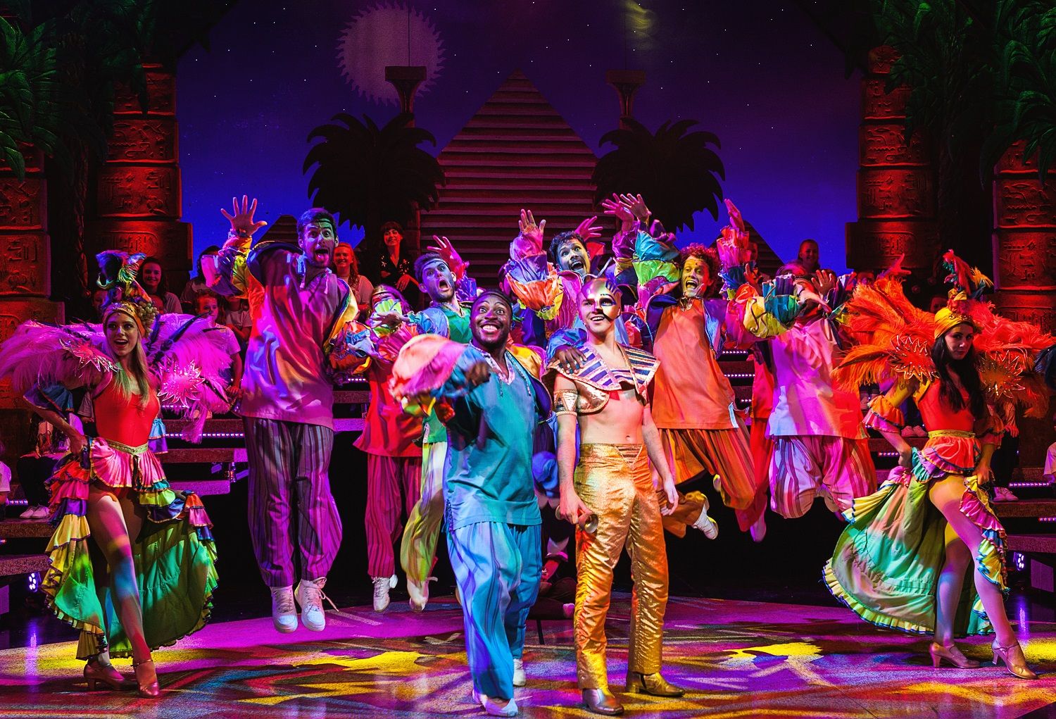 Joseph and the Amazing Technicolor Dreamcoat - full company (2) - credit Darren Bell- Theatre Royal Bath- Theatre Bath