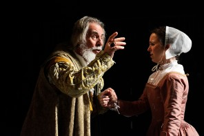King Lear - Barrie Rutter as King Lear and Catherine Kinsella as Cordelia -  Photo credit Nobby Clark - Theatre Royal Bath- Theatre Bath