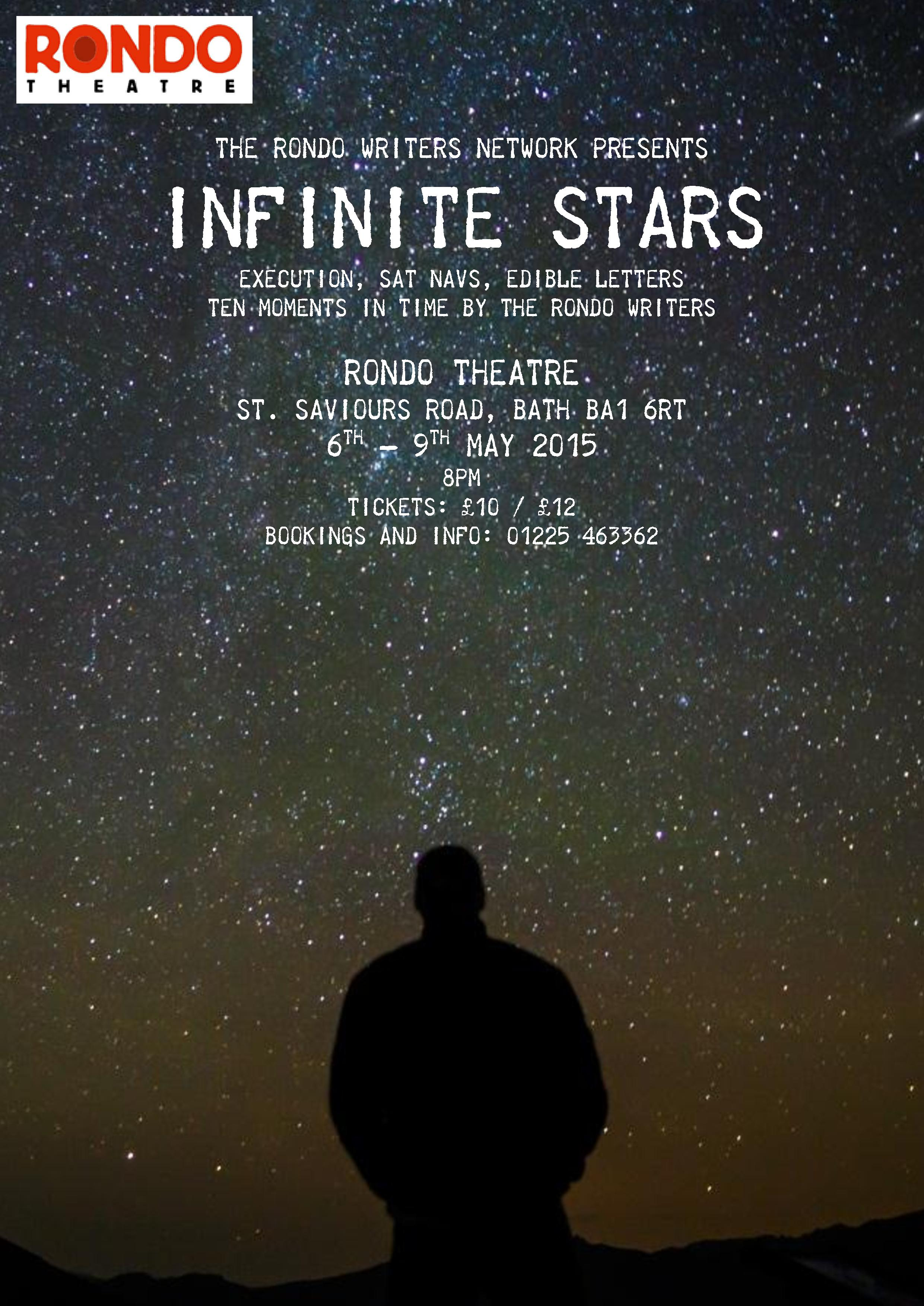 e flyer Infinite Stars- Rondo Theatre- Theatre Bath