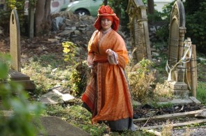 Kim Hicks as Princess Caraboo in Show Of Strength's WHY DON'T WE DO IT IN THE ROAD.  Photo Jack Willingham- Theatre Bath