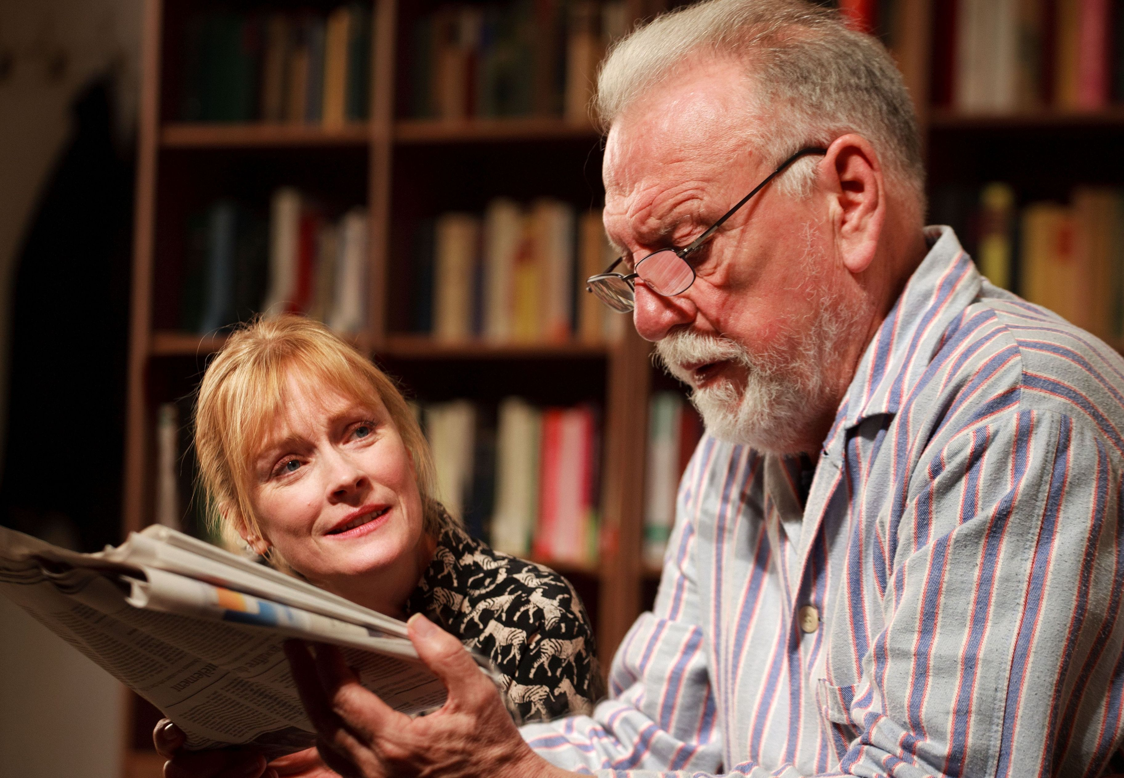 The Father - Claire Skinner as Anne and Kenneth Cranham as Andre - Photo credit Simon Annand- Theatre Royal Bath- Theatre Bath