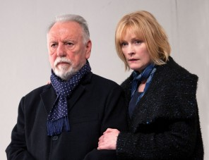 The Father -  Kenneth Cranham as Andre and Claire Skinner as Anne - Photo credit Simon Annand - Theatre Royal Bath- Theatre Bath