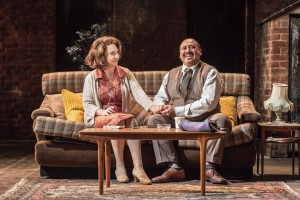 East is East - Pauline McLynn as Ella Khan and Simon Nagra as George Khan - Photo By Marc Brenner- Theatre Royal Bath- Theatre Bath