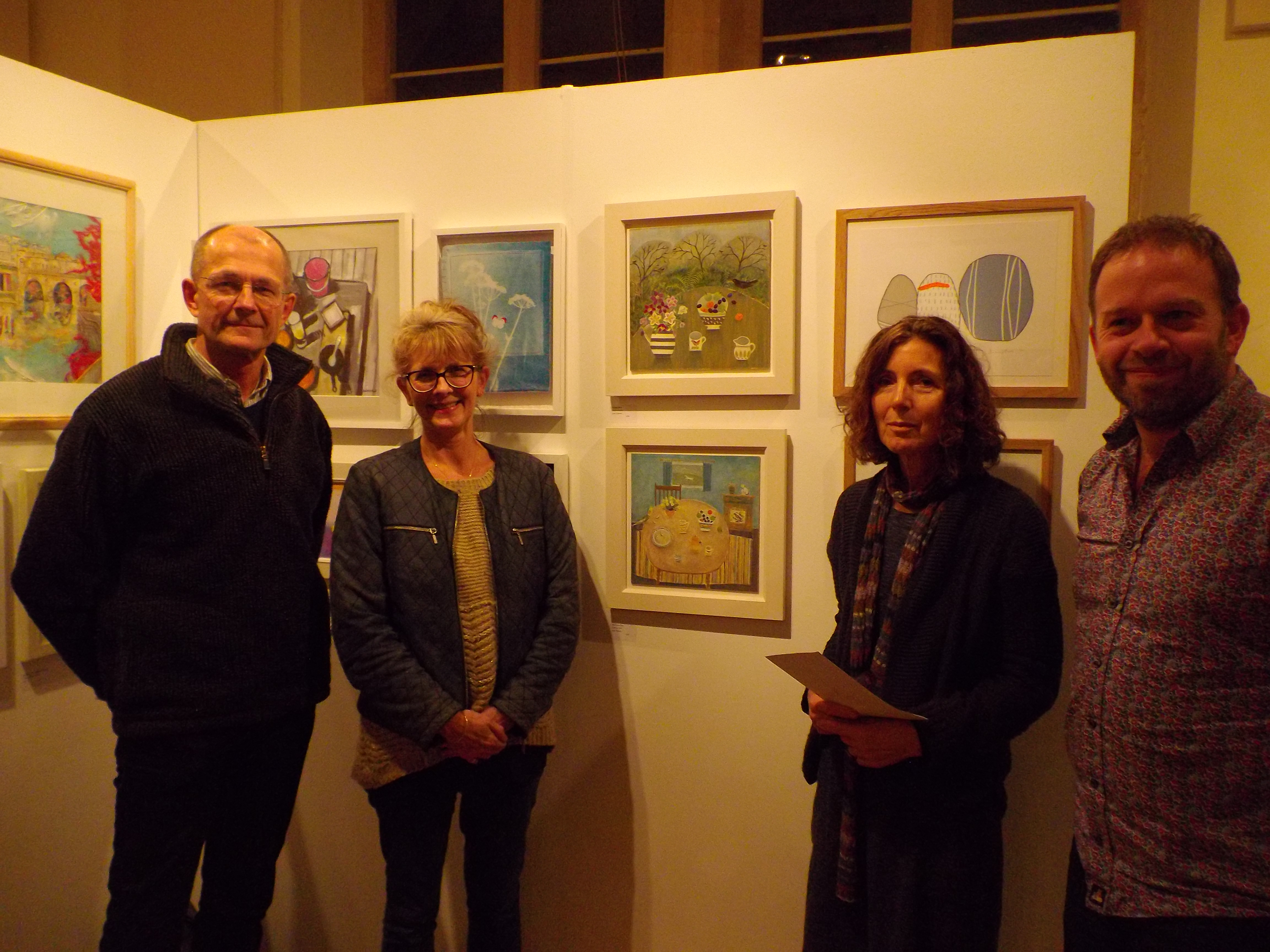 Judges, Janet Coleman and Russ Tunney- Pound Arts- Theatre Bath
