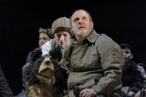 David Troughton (Tom Oakley) and Elisa de Grey (Puppeteer for Sammy the dog) in Goodnight Mister Tom - Theatre Royal Bath - Theatre Bath