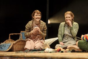 Hollie Taylor (as Ginnie) and Martha Seignior (as Carrie) in Goodnight Mister Tom - Theatre Royal Bath