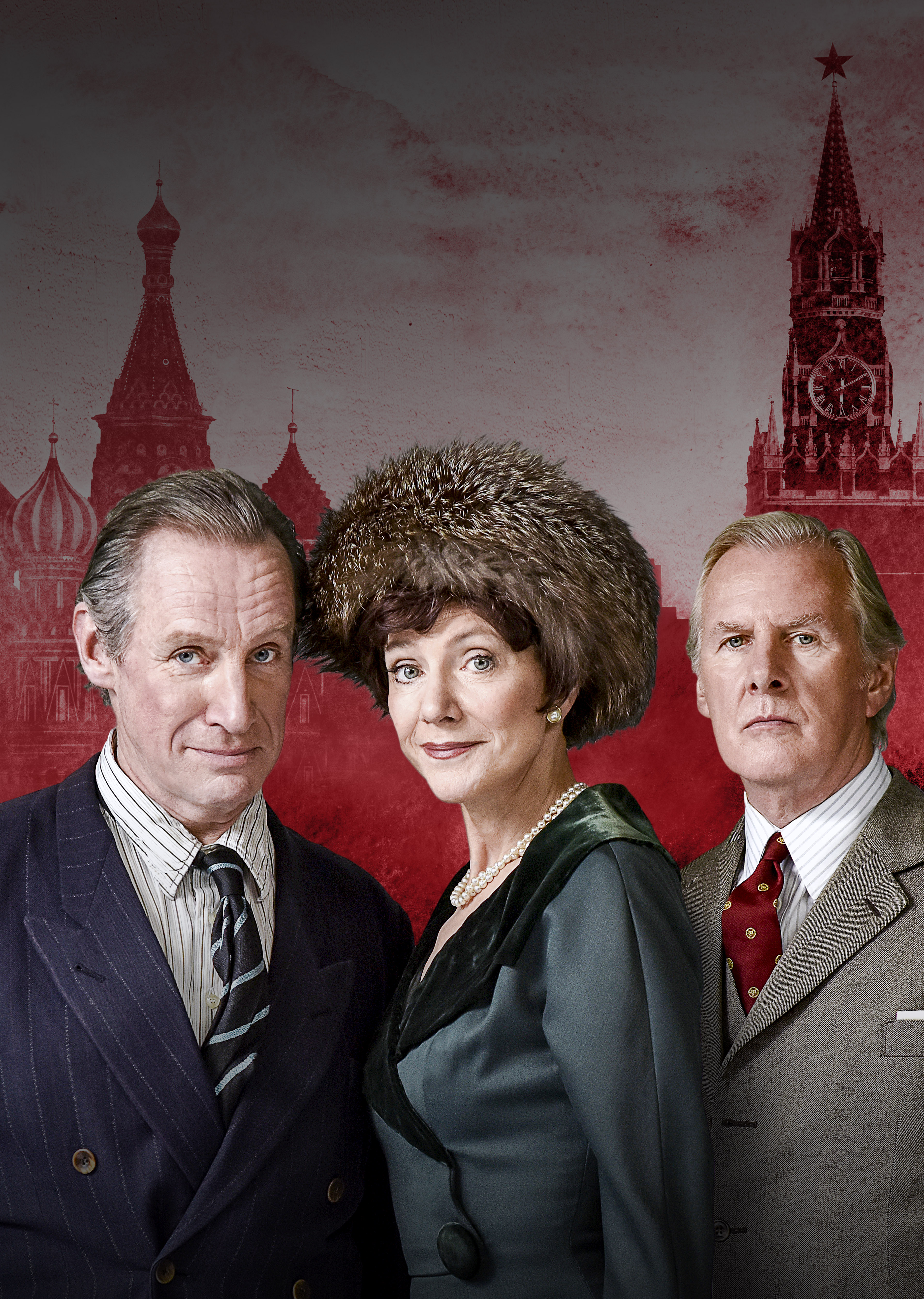 Nicholas Farrell, Belinda Lang and David Robb in Single Spies. Photography by Hugo Glendinning - Theatre Royal Bath - Theatre Bath